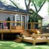 Las cubiertas del patio trasero