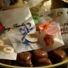 Favores nupciales: corazones de chocolate