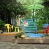 Construir una plataforma multinivel para una piscina para niños
