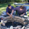 Cómo configurar capstones para un pozo de fuego