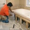 Garra instalación bañera de pie: la demolición rodear