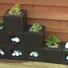 Jardineras hechas con bloques de cemento