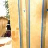 Técnica de pintura decorativa: pintura rayas pergamino en las paredes