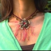 Collar de flores de filigrana