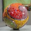 Jardín esfera mosaico