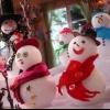 Bolas de nieve, muñecos de nieve Glittered y adornos