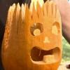 De Halloween que talla la calabaza: jack electro o del enchufe