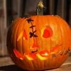 De Halloween que talla la calabaza: frankenstein linterna del o