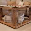 ¿Cómo construir una mesa de tablero de ajedrez rústico