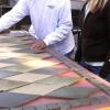 ¿Cómo crear una alfombra de azulejos con incrustaciones