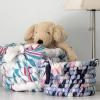 Cómo hacer una cesta de mantas de bebé o retazos de tela