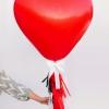 Cómo hacer un globo de corazón con borlas de flecos tejido