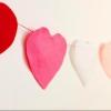 Cómo hacer una guirnalda en forma de corazón