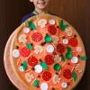 Cómo hacer una pizza traje de halloween