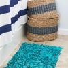 Cómo hacer una alfombra de baño alfombra de trapo de upcycled camisetas