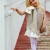 Como hacer un vestido de niña de las flores de estilo rústico