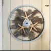 Cómo hacer una corona de una rueda de bicicleta, coral y estrellas de mar