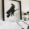 ¿Cómo hacer arte brillante Halloween bruja