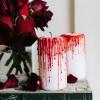 Cómo hacer velas de halloween chorreando sangre
