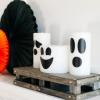 Cómo hacer velas fantasmas de halloween