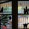 ¿Cómo hacer de halloween ventana siluetas