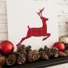 Cómo hacer a cuadros renos obra navidad