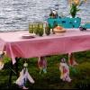Cómo hacer pesas mantel para una mesa de picnic