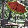Cómo pintar un patrón de sandía en un paraguas al aire libre