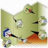 ¿Cómo reparar grietas y agujeros en paneles de yeso