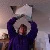 Cómo reemplazar el aislamiento y paneles de yeso parche