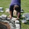 Cómo configurar piedras para un pozo de fuego