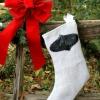 Cómo coser una arpillera y la pizarra media de la navidad