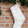 Cómo coser una media de la navidad, la franja de volantes