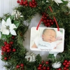 Cómo convertir un annoucement del nacimiento en un ornamento de navidad