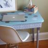 Cómo upcycle un viejo escritorio con tela