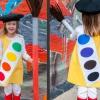 Traje de halloween para niños: caja de pinturas de acuarela