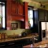 Colores de la cocina que trabajan juntos
