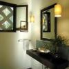 Capa de la iluminación en su cuarto de baño zen
