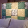 Hacer una cabecera acolchada con azulejos de estaño