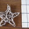 Hacer scandanavian ornamentos de la estrella de hilo navidad