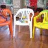 Muebles de patio pintado