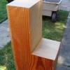 Marco de la mesa de trabajo de madera reciclada