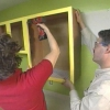 Rectifique gabinetes de cocina con nuevas puertas