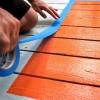 Arreglar una cubierta con una pintada & # 034-alfombra & # 034-