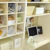 El desorden de su oficina en casa