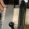 Usando una plantilla de cola de milano