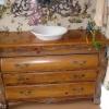 El uso de mobiliario vintage en el baño