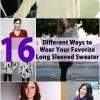 16 maneras diferentes de llevar su favorito de manga larga del suéter