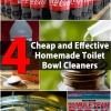 4 WC Homemade Limpiadores barata y eficaz Tazón