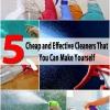 5 Limpiadores baratos y eficaces que puedes hacer tú mismo
